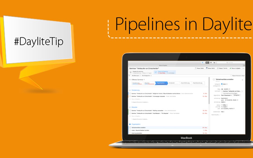 DayliteTip: Optimize your projects with pipelines