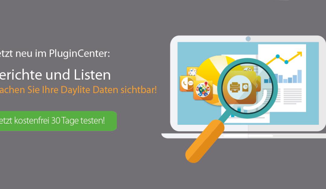 Jetzt neu im PluginCenter: Berichte und Listen