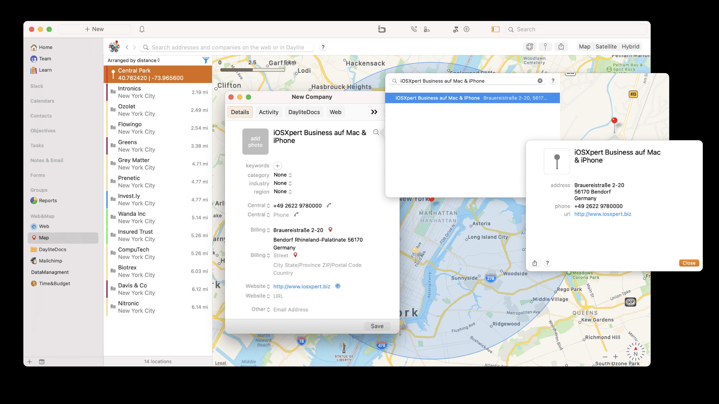 CRM Daylite Mac iPhone Kontakt Apple Kartendaten.png