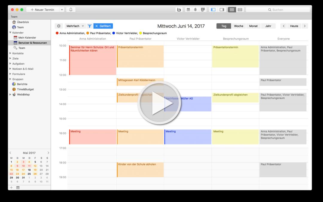 Neu in Daylite: Planen Sie Ihre Termine & Ressourcen noch einfacher!