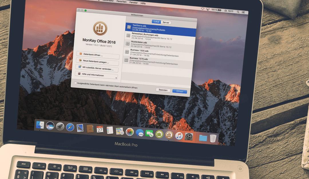 Update: MonKey Office ab jetzt macOS Sierra kompatibel!