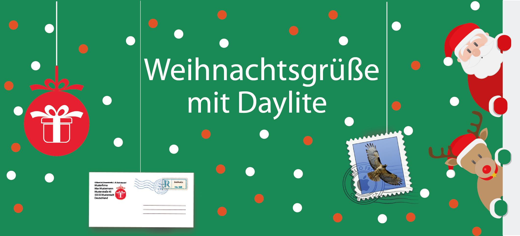 Weihnachtsgrüße mit Daylite