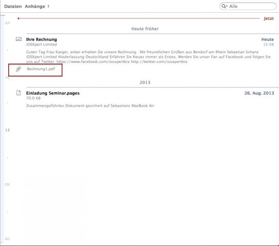Anwender-Tipp: Sortieren nach Mails mit Dateianhängen
