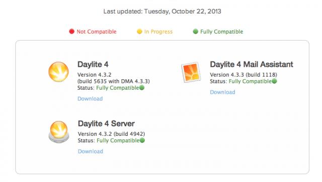Kompatibilität zwischen Daylite und Mavericks OSX 10.9