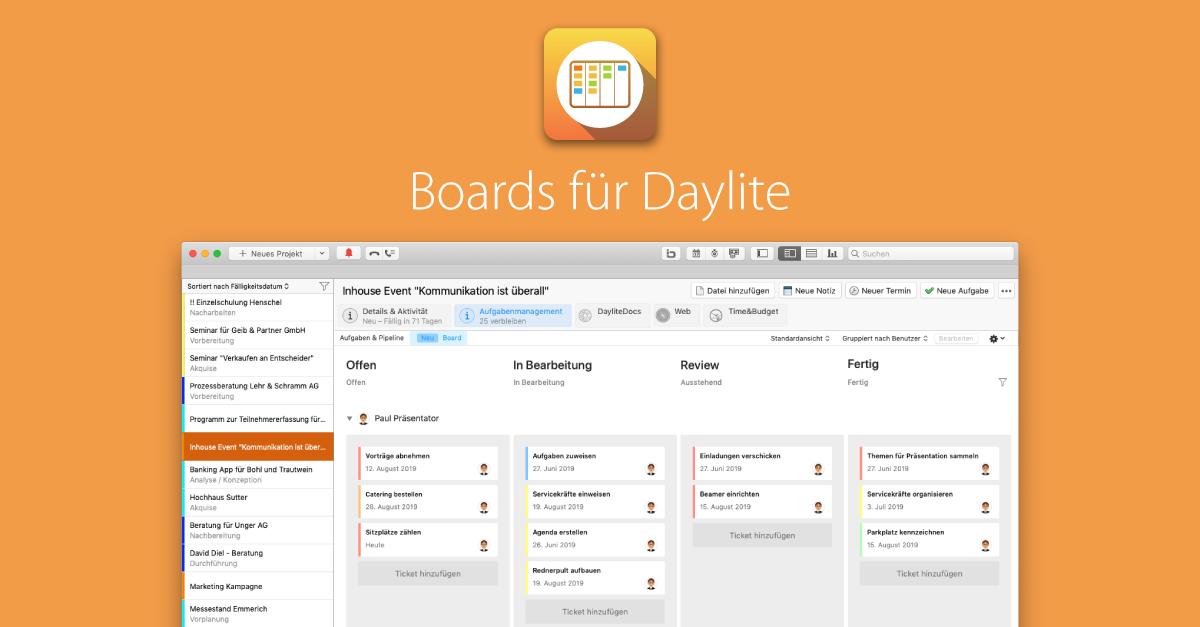 Kanban Boards jetzt in Daylite integriert!