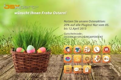 Ein Korb voller Plugins zu Ostern! Mit 20% Rabatt in unserer Osteraktion