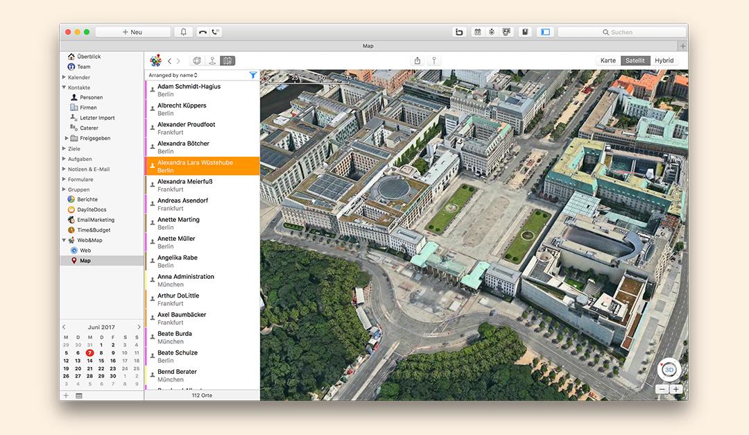 Web&Map 2.0 für Daylite – Jetzt mit Apple Karten und mehr als 15 neuen Funktionen!