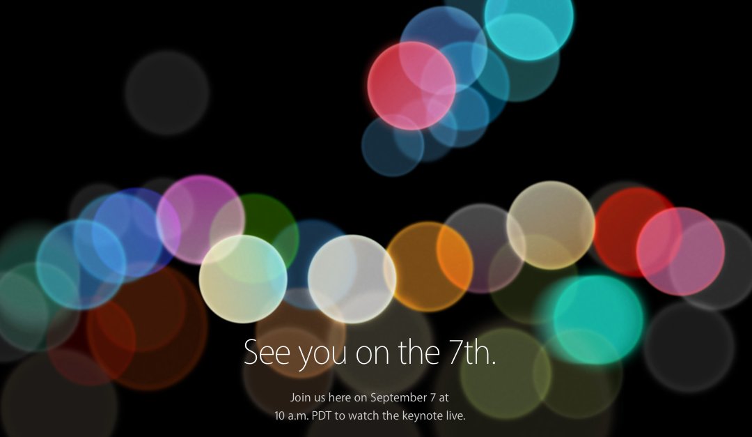 Apple Event: See you on the 7th