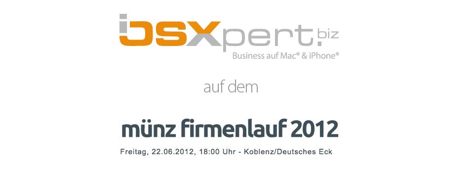 iOSXpert beim Münz Firmenlauf 2012 in Koblenz