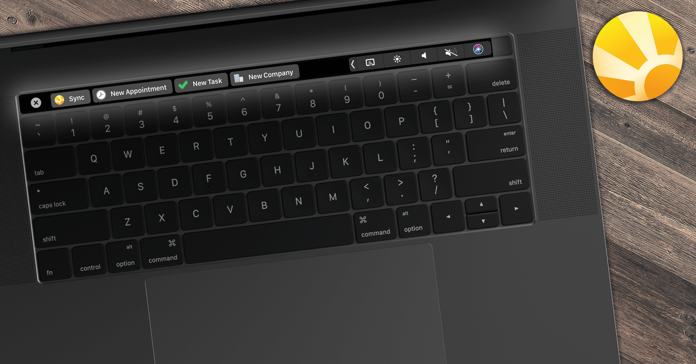 DayliteTip: Daylite and the Touch Bar